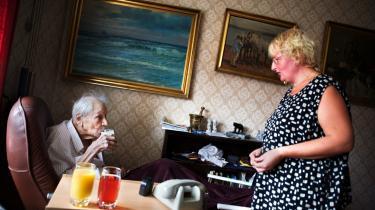 Hjemmehjælpere og andre medarbejdere inden for social- og sundhedsektoren er ikke indstillet på at arbejde mere, selv om skatten på arbejde bliver lettet viser undersøgelse, som FOA har foretagetArkiv