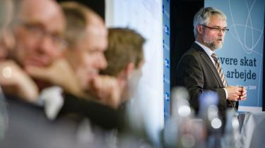 Carsten Koch, formand for Skattekommissionen, fremlagde i går den længe ventede rapport om fremtidens skattesystem i DGI-byen i København