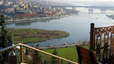 Udsigt over byen og Bosporus-strædet fra Pierre Loti cafe.