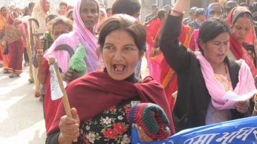 Nepals kvinder går foran i demonstrationer for jordrettigheder.