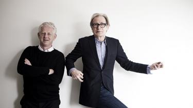 Instruktøren af -The Boat that Rocked-, Richard Curtis, besøgte i går København i anledning af, at filmen skulle åbne den første udgave af filmfestivalen CPH:PIX. Med i København var også skuespiller Bill Nighy (th), der medvirker i -The Boat that Rocked-.