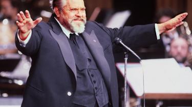 Orson Welles - her i 1982 - spillede Harry Lime i filmen -The Third Man- fra 1949, hvilket stadig regnes for én af hans vigtigste roller i en lang karriere. Orson Welles døde i 1985.