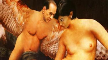 Silvio Berlusconi og hans muse Italiens minister for ligestilling, Mara Carfagna. Kunstneren Filippo Panseca står bag værket. Berlusconi har ikke selv kommenteret det opsigtsvækkende maleri.