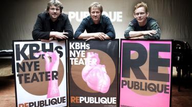 Rasmus Adrian, Martin Tulinius og H.C. Gimbel præsenterede Republique.
