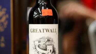 En flaske fra det tilsyneladende uudtømmelige lager af Great Wall 1998 - altid samme årgang.