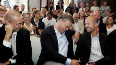 Det så godt ud. Anders Kronborg, Per Mikael Jensen og Flemming Rasmussen, da TV 2 fik hammerlsag på den femte radiokanal i 2006. Et år efter var Jensen og Kronborg ude af TV 2 og stationens nedtur en realitet.