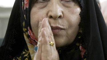 Zahra Rahnavard har spillet en hovedrolle i sin mands valgkamp.