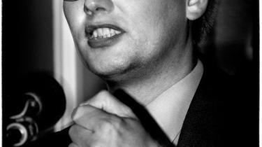 Justitsminister Frank Jensen (S) holdt i 1998 pressemøde i PET-sagen.