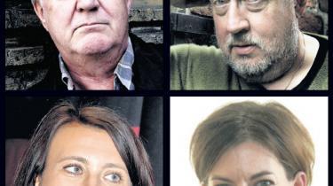 Henning Mankell (øverst t.v.), Leif G.W. Persson, Camilla Läckberg (nederst t.v.) og Kajsa Ingemarsson er blandt de forfattere, hvis navne er blevet nævnt i forbindelse med 'Hypnotisøren', men indtil videre er det ikke blevet afsløret, hvem der gemmer sig bag pseudonymet Lars Kepler.