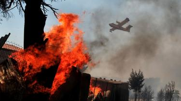 Den græske regering har efterhånden fået kontrol med skovbrandene - men ikke med de politiske konsekvenser.
