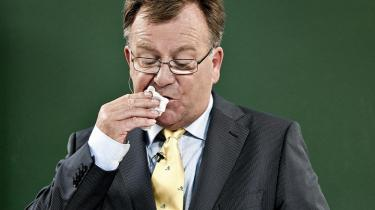 Finansminister Claus Hjort Frederiksen offentligjorde finanslovsforslaget for 2010 i Finansministeriet i går.