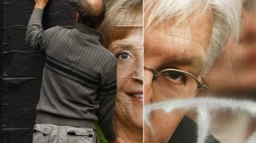 To tyske kansler-kandidater mødtes i søndags i valgkampens eneste tv-duel, men det er ikke nemt at være modstandere, når man har været fælles om de fleste politiske beslutninger