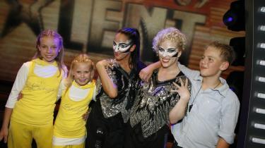 Det handlede om at være på og blive set - som for eksempel   i tv-programmet 'Talent 09'.