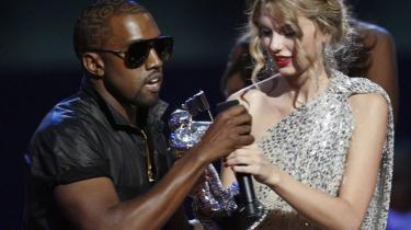 Stunt. Kanye Wests erobring af mikrofonen fra Taylor Swift skabte godt med støj i web- og sendefalden.