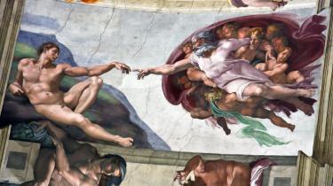 Michelangelos'Adams skabelse' fra omkring 1511.