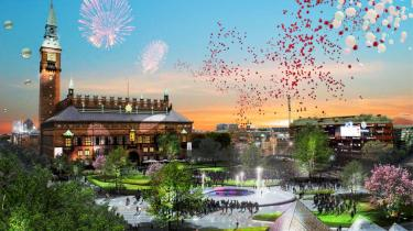 Københavnerne fejrede i aftes FN-titlen som første  CO2-neutrale metropol med spontan fest i Rådhusparken
