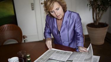Klimaminister Connie Hedegaard mener, at Informations sorte fremtidsscenarium er lige lovligt 'katastrofistisk'.