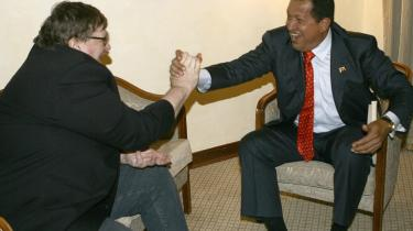 Michael Moore og Hugo Chávez morede sig i hvert fald i Venedig - med eller uden tequila.