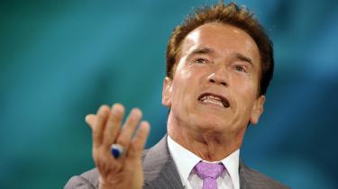 Arnold Schwarzenegger har på ny vakt opmærksomhed pga. sin åbenmundede stil.