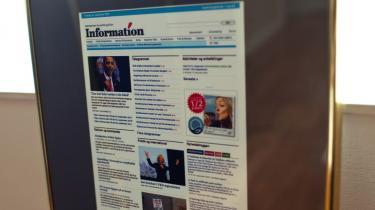 Informations internetavis blev i går kåret til Årets Webavis 2009.