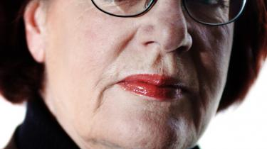 Venstres kirkeudvalgsformand, Britta Schall Holberg, overgik Søren Krarup i bandbuller mod klimaklokkeringning og kaldte ringningen 'galimatias' og 'gak'.
