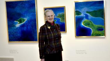 Dronning Margrethe åbnede i marts en udstilling af egne værker på Museet for Religiøs Kunst i Lemvig.