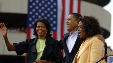 Talkshow-dronningen Oprah Winfrey har støttet Obama fra begyndelsen, men er der nu splid i inderkredsen? Det siger rygterne i sladderpressen i USA.