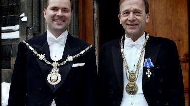 To repræsentanter for de ellers ret fåtallige konservative borgmestre: Mads Lebech   (t.v.), borgmester på Frederiksberg 2001-2009, og   Hans Toft, nuværende borgmester i Gentofte.