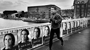 Den kommende overborgmester i København løber sin daglige rute rundt om havnen på valgdagen den 17. november 2009.