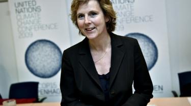 Connie Hedegaard var ifølge eget udsagn godt tilfreds med, at hverken energi eller miljø bliver en del af klimakommissærens portefølje.