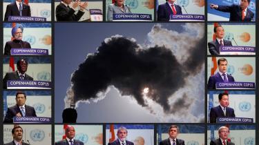 Verdens ledere kom alle med fly til København - og tog hjem igen uden en aftale. Fra øverst til venstre er det Barack Obama (USA), Nicolas Sarkozy (Frankrig), Angela Merkel (Tyskland), Jose Manuel Barroso (EU), Hugo Chavez (Venezuela), Wen Jiabao (Kina), Dmitrij Medvedev (Rusland), Yukio Hatoyama (Japan), Kevin Rudd (Australien), Gordon Brown (Storbrittanien), Luiz Inacio Lula da Silva (Brasilien), Jacob Zuma (Sydafrika), Mahmoud Ahmadinejad (Iran), Susilo Bambang Yudhoyono (Indonesion), Robert Mugabe (Zimbabwe), Manmohan Singh (Indien).