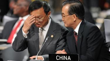 Kinas premierminister, Wen Jiabao, fremhæver de kinesiske anstrengelser på klimaområdet og lægger op til, at Kina vil overgå sit eget reduktionsmål