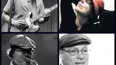Jakob Bro (øverst t.v.), Josefine Cronholm (øverst t.h.), Benjamin Koppel (nederst t.v.) og Hugh Steinmetz (nederst t.h.) var med til at tegne den danske jazz i 2009.
