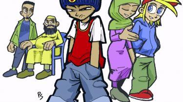 Tegneseriefiguren Andi skal lære unge tyskere at modstå ekstremisme.