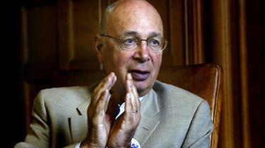 'Det vil være en spildt mulighed for alle, hvis vi foregiver, at krisen blot var en ond drøm,' siger Klaus Schwab, manden bag de årlige Davos-møder.