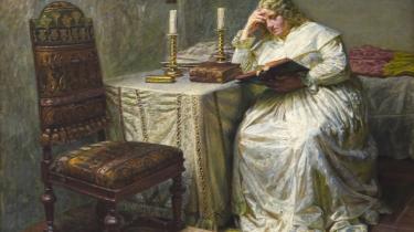 Fængsel. Man noterer sig, at selv en så hård straf, som den, der blev Leonora Christina til del, til enhver tid inkluderede en tjenende ånd, en kvinde, der var hos hende døgnet rundt. Også at maden bestod af fire retter, at stegen hver aften blev skåret for af slotsfogeden, og at Leonora havde så rigeligt, at hun kunne sørge for tårnets øvrige fanger. Her er det Kristian Zahrtmann (1843-1917), der har malet Leonora Christina i Blåtårn 1891.