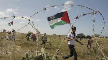 Palæstinenserne markerede den såkaldte 'land-dag' med demonstrationer, bl.a. i grænseområdet mellem Israel og Gaza.