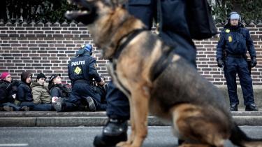Både lørdag den 12. december og søndag den 13. december foretog politiet masseanholdelser af demonstranter.