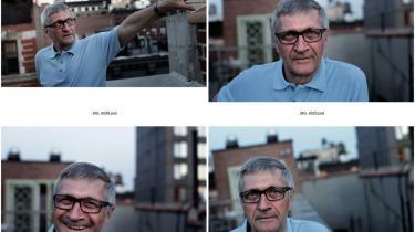 Ole Øhlenschlæger bor under sit ophold i New York i en lejlighed, som Bikuben har oprettet til forskere og kunstnere.