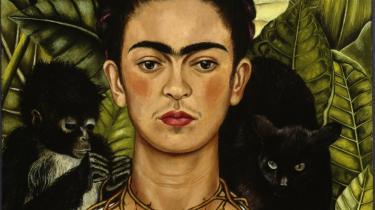Frida Kahlo: 'Self-Portrait with Thorn Necklace and Hummingbird'   (1940). © Banco de México Diego Rivera & Frida Kahlo Museums   Trust, México, D.F./VG Bild-Kunst, Bonn.