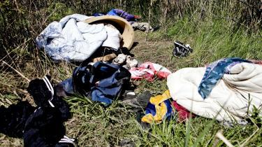 Midt i EU's officielle år til bekæmpelse af fattigdom og social udstødelse er den danske reaktion at smide en gruppe romaer på porten. Det udstiller den manglende politiske vilje til at ville gøre noget reelt ved problemerne, mener Heiner Lützen Ank.