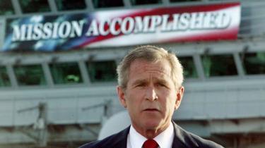 Løfterne. Missionen er fuldført, forsikrede Bush få måneder efter invasionen i 2003. Nu, hvor tropperne trækkes ud, bliver mangellisten katastrofalt synlig.