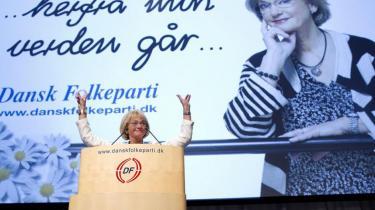 DF-formand Pia Kjærsgaard rasede mod svenske medier og politikere, da hun talte på partiets årsmøde i Herning