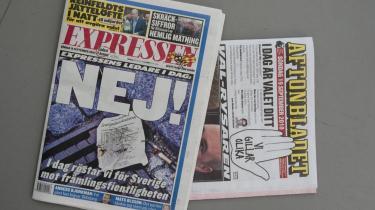 Expressen tog kraftig stilling imod Sverigedemokraterna på valgdagen.