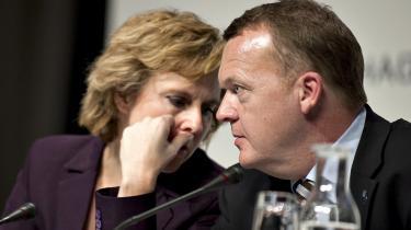 Connie Hedegaard (K) og Lars Løkke Rasmussen (V) under klimatopmødet i Bella Center i december. Connie Hedegaard var meget tæt på at gå af som miljøminister, inden topmødet, fordi hun følte sig tromlet ned at statsministeriet