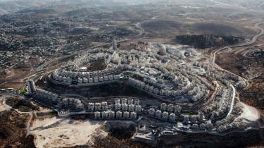 Den jødiske bosættelse på palæstinensisk jord, Har Homa, i udkanten af det arabiske Østjerusalem nær Bethlehem,