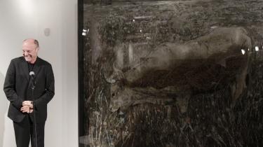 Louisiana er pænt. Kiefer, der her ses ved maleriet 'Europa',   er ikke blevet det endnu, pæn altså.