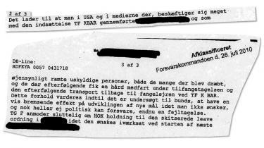 Frank Lissner, chefen for de danske specialsoldater i Afghanistan, vidste i 2002, at krigsfanger fik 'en hård medfart', viser et dokument, som Forsvarskommandoen har afklassificeret