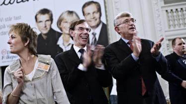 Her jubler DF's Mogens Camre og Søren Krarup, efter VKO-flertallet er i hus 2007. Men dommen over deres diskriminerende politik og eksklusion af visse borgere i dette land, vil falde en dag.