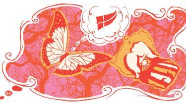 Hvad har Pia Kjærsgaard tilfælles med den kinesiske filosof Zhuang Zi?  De har begge haft en drøm, som de baskede rundt i og ikke kunne komme ud af. Forskellen er, at Zhuang Zi kom i tvivl